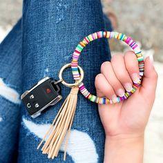 Tassel Keychain, Leather Keychain, Keychain Wristlet, Diy Keychain, Beaded Jewelry, Handmade Jewelry, Beaded Bracelets, Trendy Jewelry, Unique Jewelry