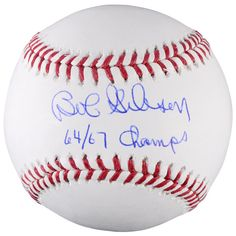 Bob Gibson St. Louis Cardinals Fanatics Authentic Autographed Baseball with 64/67 Champs Inscription - $159.99