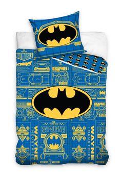Pościel dla dzieci w kolorze niebieskim z logo Batmana
