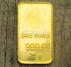 Fine gold ingot  Precious metals investments with http;//londoncommoditymarkets.com