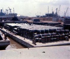 Barrels of Agent White and Agent Orange at Newport Terminal