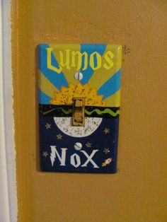 Harry Potter light switch cover. YES!!!!