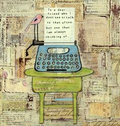 im suppose to be working getting ready for my upcoming show this weekend in asheville , yeah im so excited i love belle chere . Mixed Media Cards, Learn To Love, Art Pages, Altered Books, Clear Stamps, Dear Friend, Art Journaling, Artsy Fartsy, Fiber Art