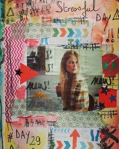 Day 29 #stressful #stressfulday #100dayproject #100daysofmyajcollage #artjournal #artjournaleveryday #artwork #artworkoftheday #artcollage #collagepaper #collage #papercollage #scrappaper #scrap #instacreativity #day29 #page