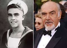 Sean Connery - Pictures Of Movie Stars Before They Were Famous Celebrities Then And Now, Young Celebrities, Celebs, Young Actors, Hollywood Celebrities, Hollywood Stars, Classic Hollywood, Old Hollywood, Sean Connery