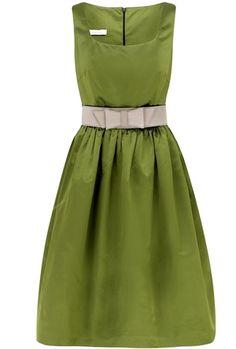 Suzannah Classic Fifties Inspired Silk Dress - LoLoBu