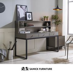 [삼익가구]라운지 그레이 1500 서랍형 디럭스 책상세트 Marine Corps, Nice View, Office Desk, Corner Desk, Furniture, Home Decor, Corner Table, Desk Office, Decoration Home