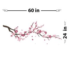 Cherry Blossom Branch | Wall Decals | The Decal Guru
