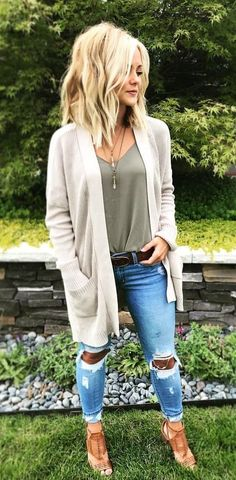 #fall #outfits gray cardigan #cardiganfall