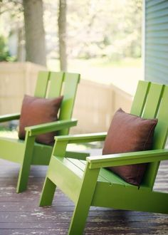 #Imaginate: Sentado, una tarde de Primavera/Verano en tu patio del B° www.rincondelrioneuquen.com.ar a orillas del Río Neuquén Modern Adirondack Chairs | Do It Yourself Home Projects from Ana White