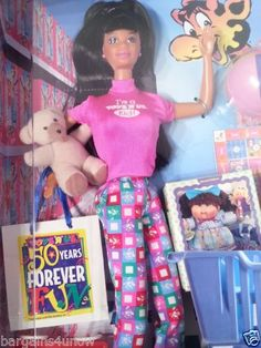 "1997 African-American 50th Anniversary Toys ""R"" Us Shopper Barbie doll"