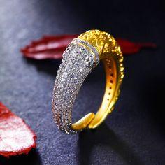 Aliexpress.com: Comprar Diseño único Anillo de metal de Cobre en Platino y Oro…