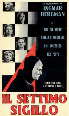 Titolo originale: Det sjunde inseglet Durata:96' Anno:1956  Produzione:Svezia Regia: Ingmar Bergman Cast:Max Von Sydow, Gunnar Bjornstrand, Bengt Ekerot, Nils Poppe