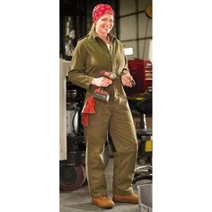 Used Dutch Mechanic's Coveralls, Olive Drab.  It's coveralls or a dinosaur onesie in my future.
