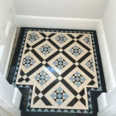 Hallway Tiles Victorian hallway tiles specialist we work very closely with our clients.Victorian hallway tiles specialist we work very closely with our clients. Victorian Hallway Tiles, Victorian Mosaic Tile, Tiled Hallway, 1930s Hallway, Victorian Flooring, Edwardian Hallway, Entry Tile, Wainscoting Hallway, Hall Tiles