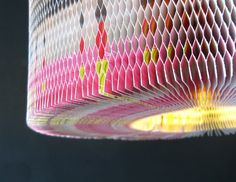 """HALLELUJAH This colourful lamp, made of recycled paper is called """"Hallelujah"""". It is made in the same way Vietnamese garlands were made, as ..."""
