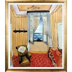 Astoria Grand 'My Room at the Beau-Rivage' by Henri Matisse Framed Oil Painting Print on Canvas