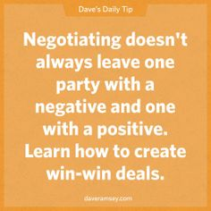 Negotiating doesn't always leave one party with a negative and one with a positive. Learn how to create win-win deals. 08.21.13