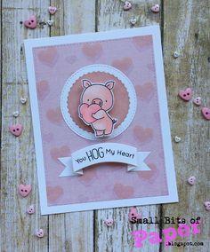 card critter pig piggy hog MFT Die-namics You hog my heart Small Bits of Paper: MFT Camp Create - A Week of Cards!