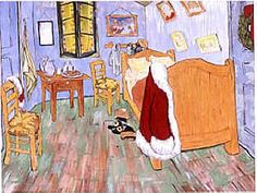 """Parody of Great Masterpieces. This site provides lesson plans and examples for parodies of Grant Wood's """"American Gothic"""", Van Gogh's """"Bedroom at Arles"""", Leonardo's """"Mona Lisa"""" and Henri Matisse's """"Dance""""."""