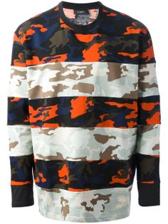 GIVENCHY - striped camouflage print top