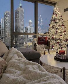 Christmas Feeling, New York Christmas, Cozy Christmas, Xmas, Christmas Time, Dream Home Design, House Design, Nyc Life, Dream Apartment