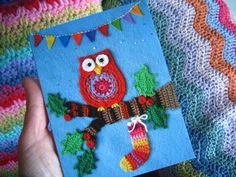 Free Crochet Christmas Card