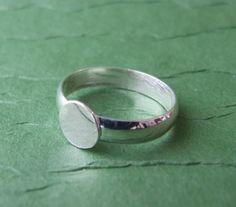 One Sterling Silver Ring BlankNonadjustable by ruralabandon, $12.50