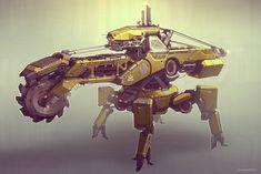#concept #tech #machinery   - Drilling machine   ... QR Drill Unit 02 by http://talros.deviantart.com on @deviantart
