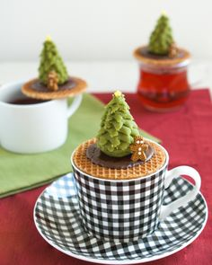 matcha christmas trees | Thirsty for Tea