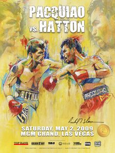 A brand new official and authentic fight poster of Ricky Hitman Hatton vs Manny Pacquiao. This poster was only available at the fight and is a rare collectors item, very few remain from the artists personal archives. Size: 18 x 24 InchesHigh quality poster with a UV glossy finish.Condition: NEWShipped in a plastic sleeve and heavy duty tube. ABOUT THE ARTIST: Richard T. Slone is the premier boxing artist in the world and has gained the attention of the fine art world through his powerful paintin Pacquiao Vs, Manny Pacquiao, Top Pranks, Ricky Hatton, Boxing Images, Boxing Posters, World Boxing, Fighting Poses, Boxing Fight