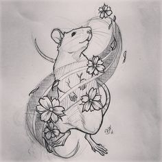 Shop doodle Anyone like this for a tattoo in South Jersey? #rat #tattoo… More