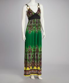 Take a look at this Lime & Yellow Boho Maxi Dress by Just Love on #zulily today!