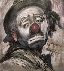 charcoal sketch clowns - Google Search