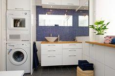 bathroom and laundry combo....