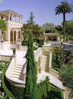 Your architecture and landscape resembles this tyle italian villa..with landsape that frames the architecture and different levels.