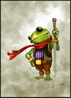 Frog Paintings Art | Frog Knight by Sephiroth-Art