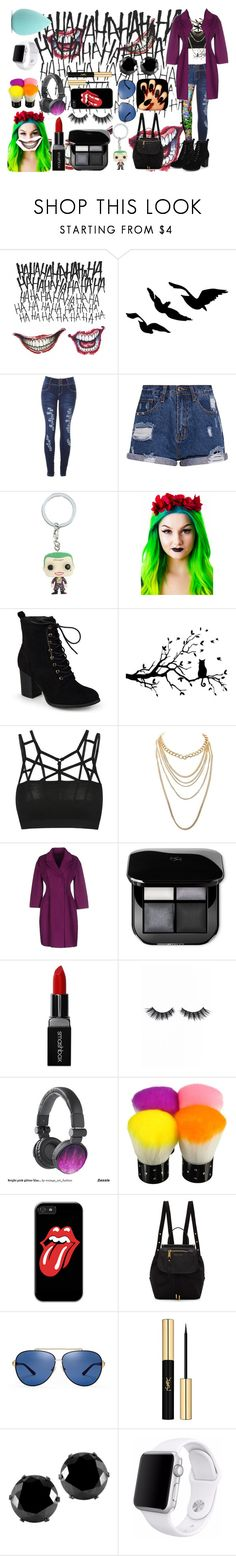 """""""the joker"""" by magic-yeilis ❤ liked on Polyvore featuring Rubie's Costume Co., Hot Topic, Cult Gaia, Journee Collection, Charlotte Russe, Ermanno Scervino, Smashbox, Violet Voss, Marc Jacobs and Tory Burch"""