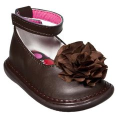 Little Girl's Wee Squeak Ankle Strap Shoe - Brown