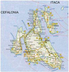 Mappa Cefalonia - Cartina Cefalonia