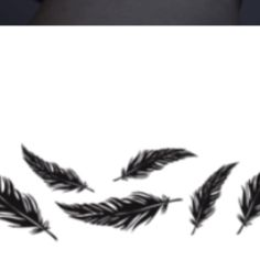 Maybe 3 separate feathers going down side with girls' birth dates and anniversary on each one. Underneath a script
