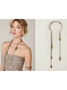 Long Tassels with Leaves Necklace - cooliyo.com