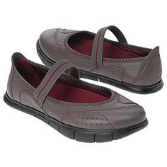 Breathe in the freshness and incredible versatility of the Inhale casual Mary Janes.  Leather upper in a casual comfort slip-on Mary Jane flat style with a round toe.  Elasticized strap across midfoot.  Stitching and decorative overlays throughout.  Fabric lining, removable cushioned insole, flexible midsole.  flexible traction outsole.  Vegan Society(R) certified.Kalso(R) Negative Heel Technology ...