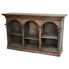 Versailles Triple Wood Bookcase | Furniture and Mattress Outlet