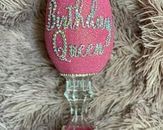 Glitter Wine Glasses, Wedding Wine Glasses, Ways To Show Love, Queen, Halloween Skull, Praying Hands, Personalized Wine, Etsy Shop, Business Ideas
