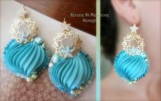 Silk Earrings by Serena Di Mercione - shibori, silk, earrings, sea, starfish.