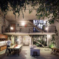 Na Casa Maracanã, do Terra e Tuma Arquitetos Associados, a entrada é feita pelo mezanino.