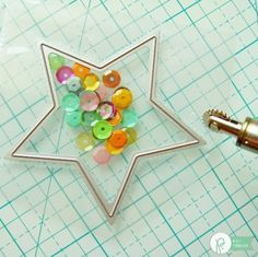 Fuse Tool Shaped Shaker Tutorial by Mendi Yoshikawa using the #FunInTheSun collection by @PebblesInc. @SnippetsByMendi using the Gift Bag Punch Board and Fuse Tool from @wermemorykeepers