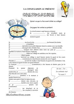 story with many verbs including reflexives