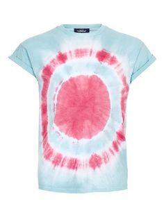 Blue/Pink Tie Dye Roll T-shirt